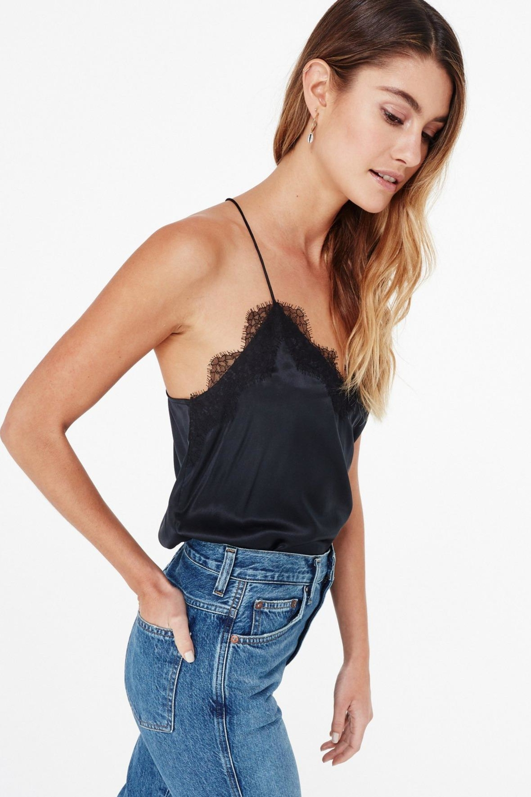 Cami NYC Racer Charmeuse - Side Cropped Image