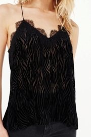 Cami NYC Racer Charmeuse Burnout-Zebra - Front full body