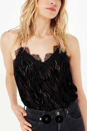Cami NYC Racer Charmeuse Burnout-Zebra - Product Mini Image