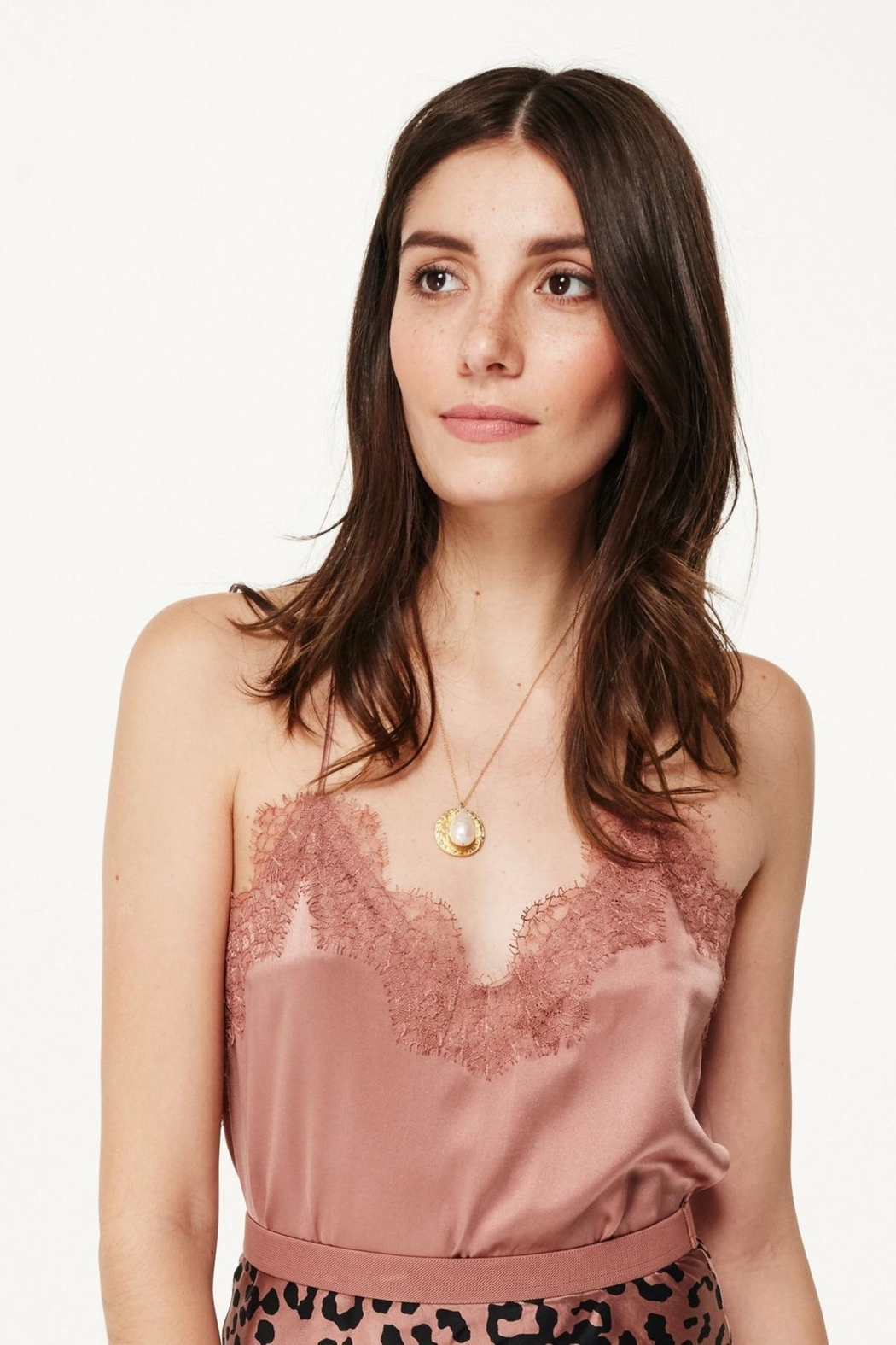 Cami NYC Racer Charmeuse Sienna - Front Cropped Image