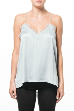 Cami NYC Racer Charmeuse Sky Top - Product List Image