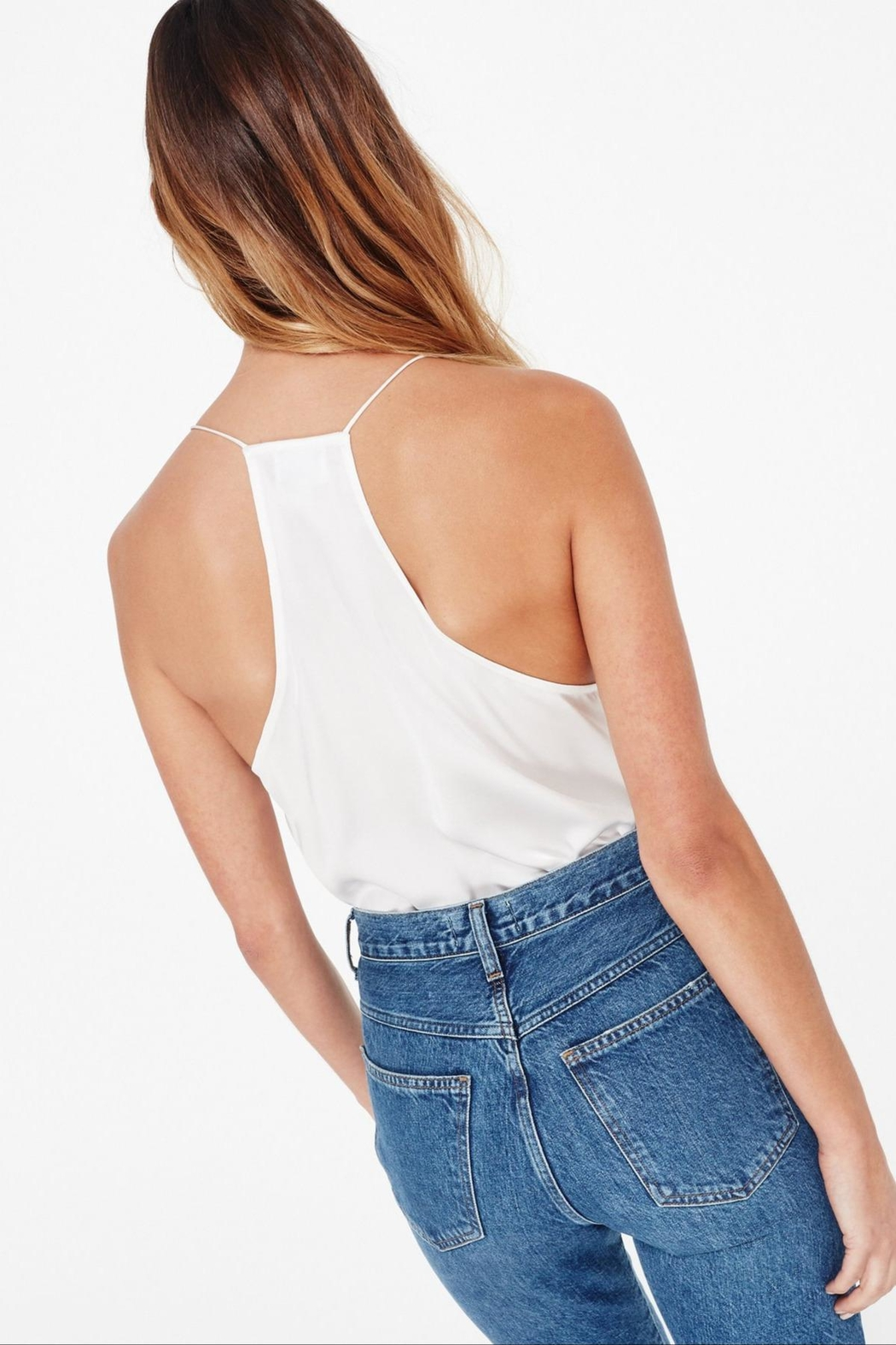 Cami NYC Racer Charmeuse - Back Cropped Image