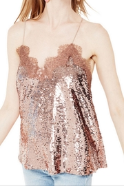 Cami NYC Racer Sequin Top - Front cropped