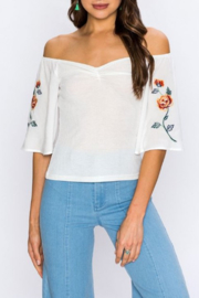 Flying Tomato Camila OTS Top - Front cropped