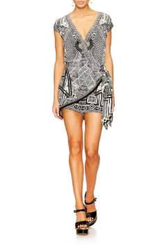 Shoptiques Product: Printed Cross Front Romper