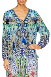 Camilla Globetrotter Lace Up Shirt - Front full body