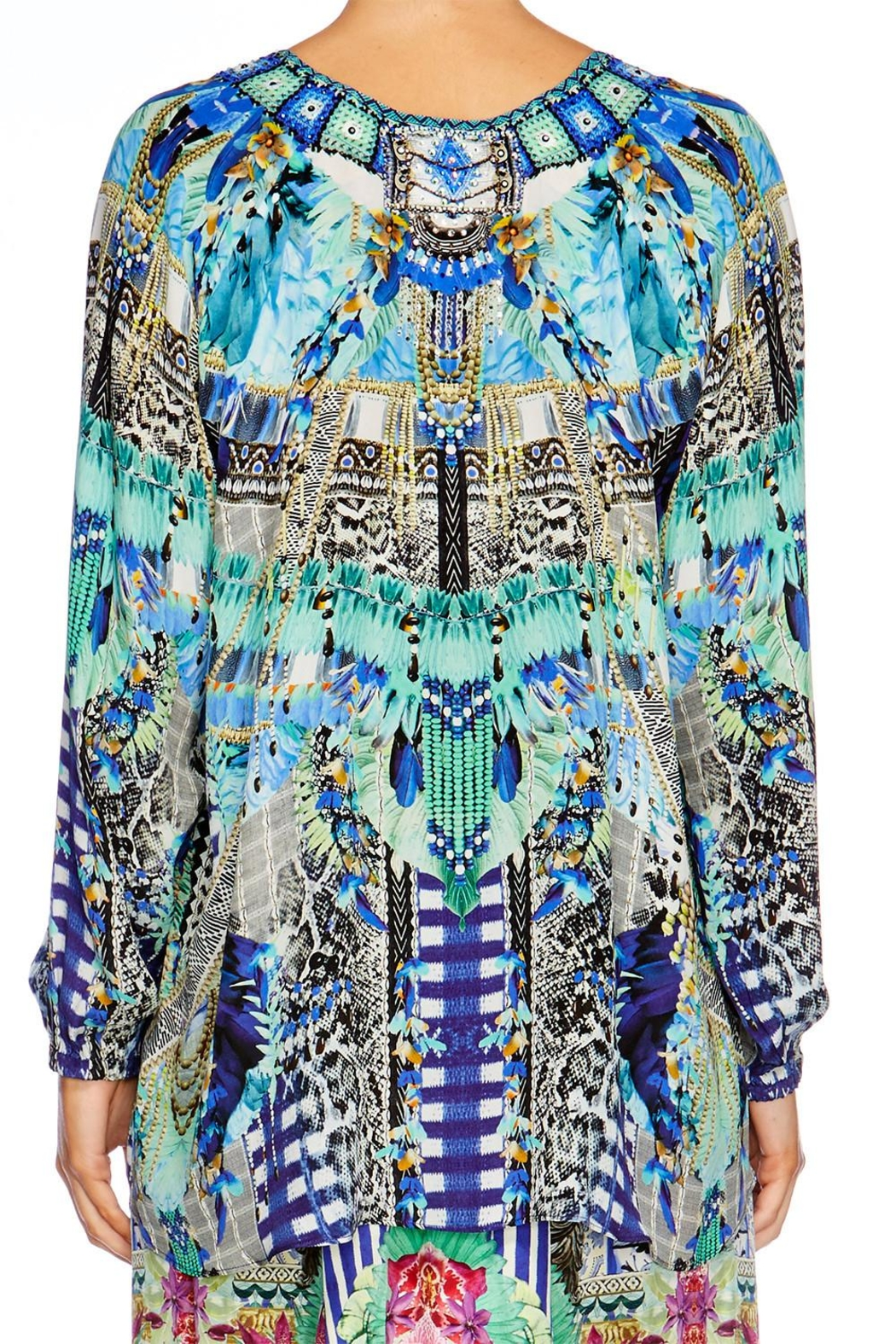 Camilla Globetrotter Lace Up Shirt - Back Cropped Image