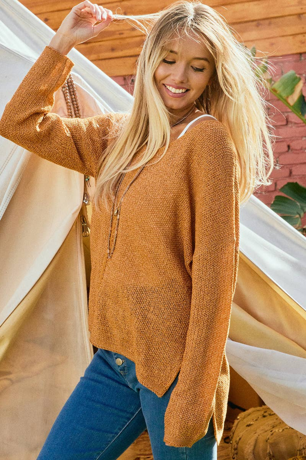 Ces Femme  Camilla Lightweight Summer Sweater - Side Cropped Image