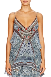 Camilla Beaded Printed Top - Product Mini Image