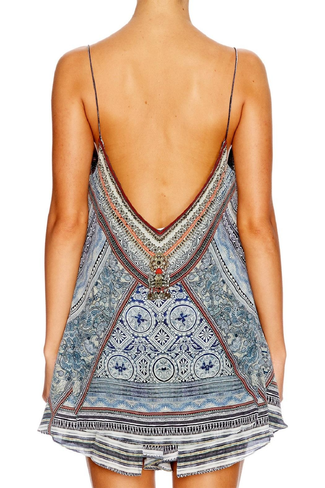 Camilla Beaded Printed Top - Front Full Image
