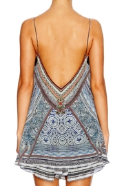 Camilla Beaded Printed Top - Front full body