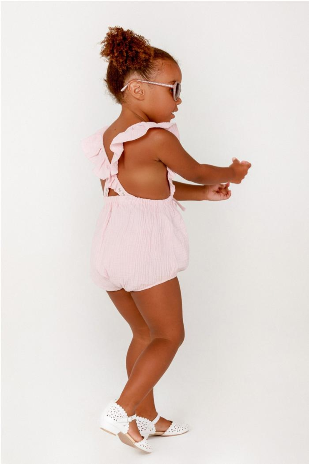 Lil Lemons Camilla Ruffle Onesie - Side Cropped Image