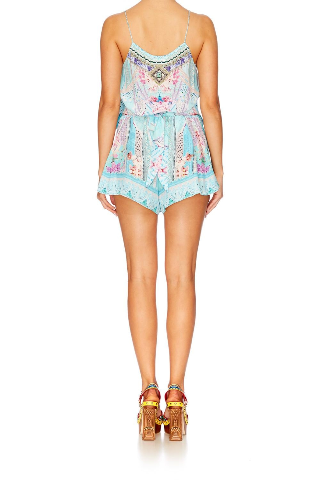 Camilla Shoestring Strap Playsuit - Back Cropped Image