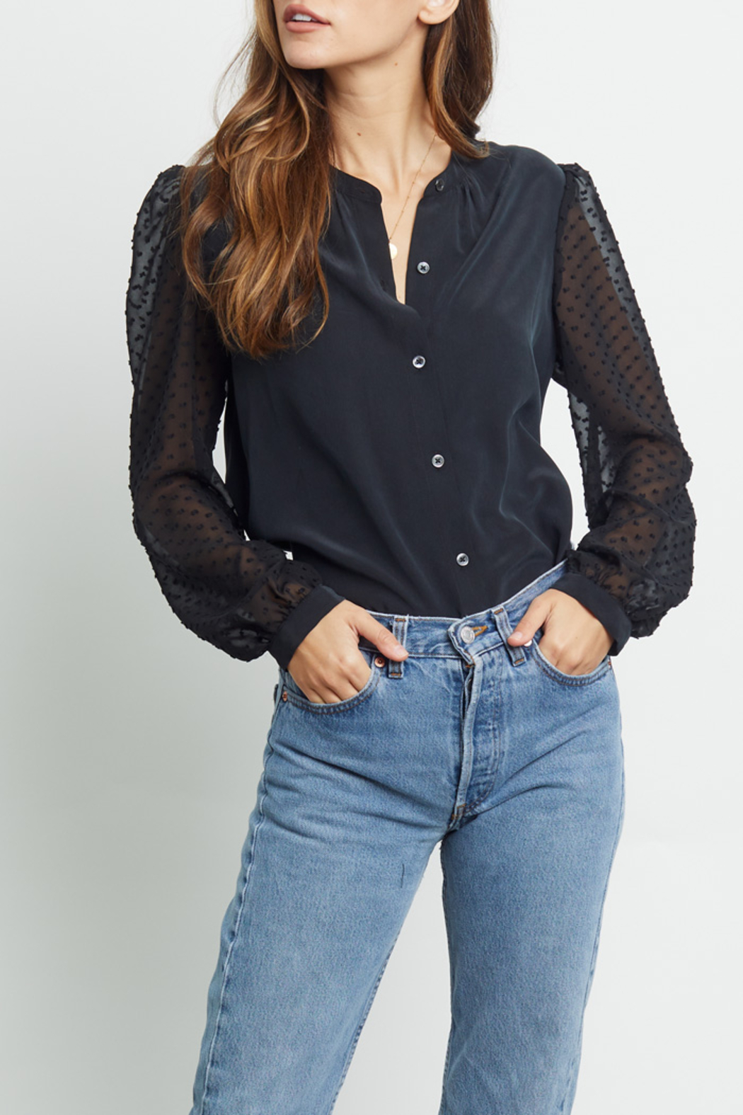 Rails Clothing Camilla Silk Blouse - Side Cropped Image