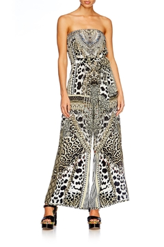 Shoptiques Product: Strapless Leopard Jumpsuit