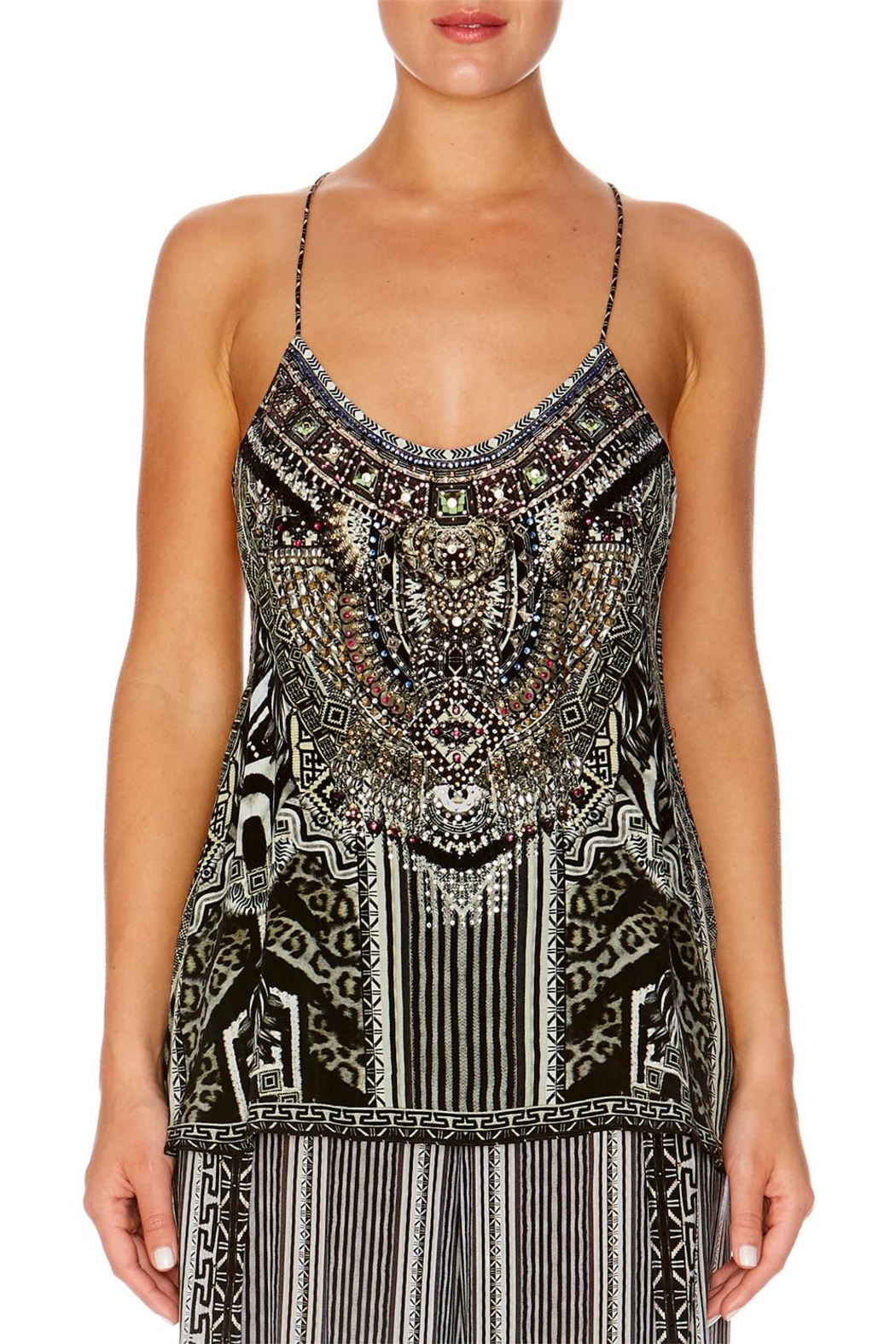 Camilla T-Back Shoestring Top - Front Cropped Image