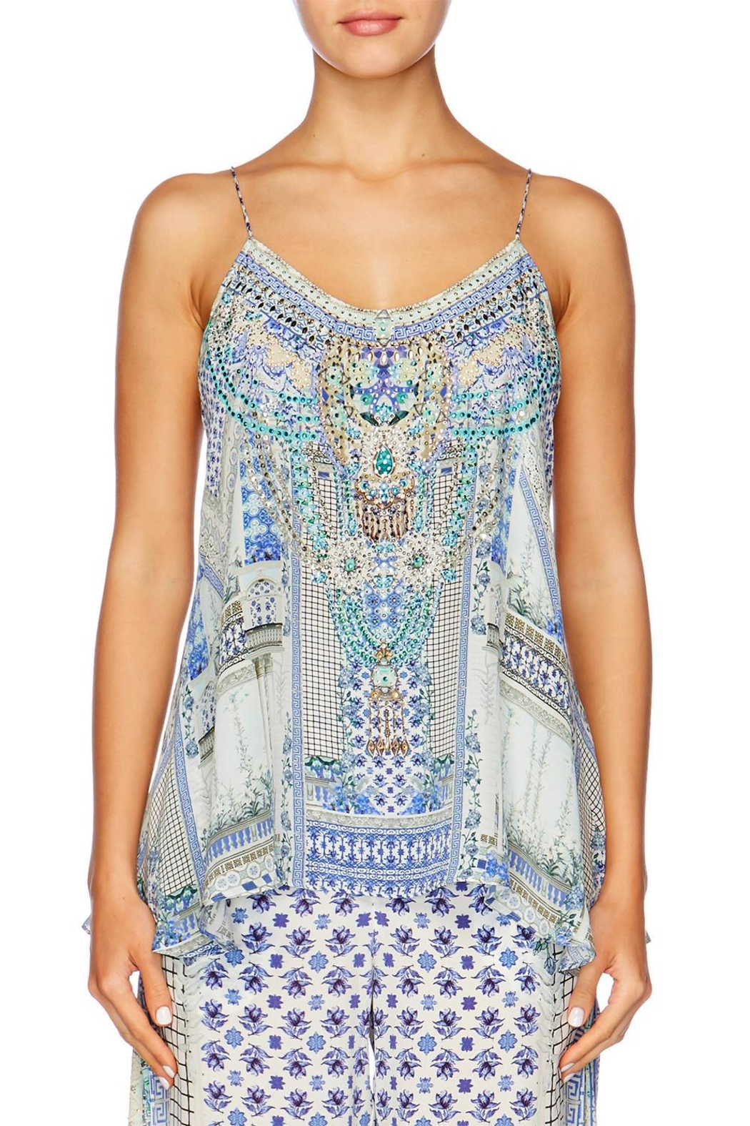 Camilla T Back Shoestring Top - Front Cropped Image