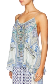 Camilla T Back Shoestring Top - Front full body