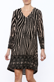 Camille and Co V-Neck Animal Print Dress - Product Mini Image