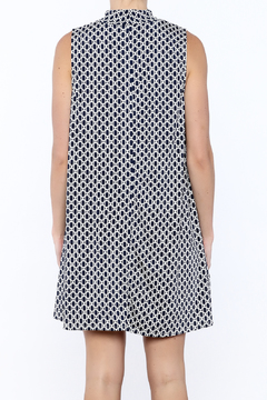 Camille and Co Mock Neck Navy Print Dress - Alternate List Image