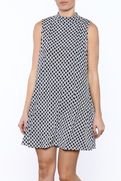 Camille and Co Mock Neck Navy Print Dress - Product List Image