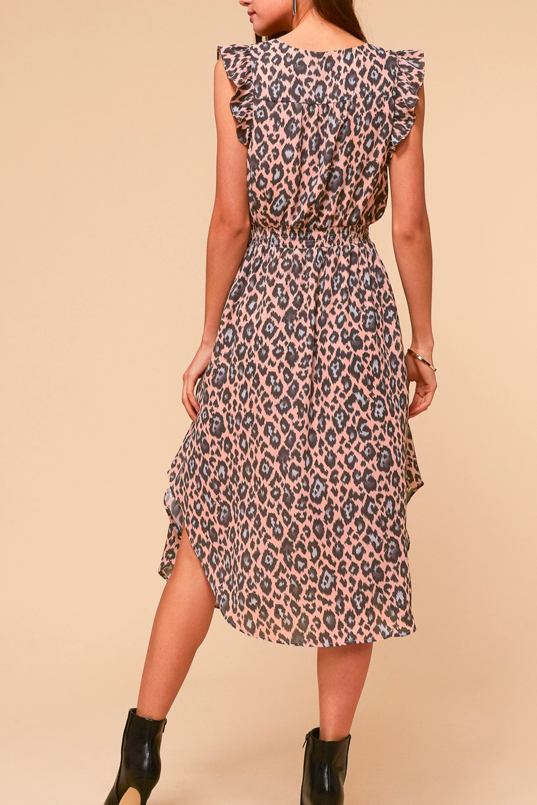 Adelyn Rae Camille Animal-Print Dress - Front Full Image