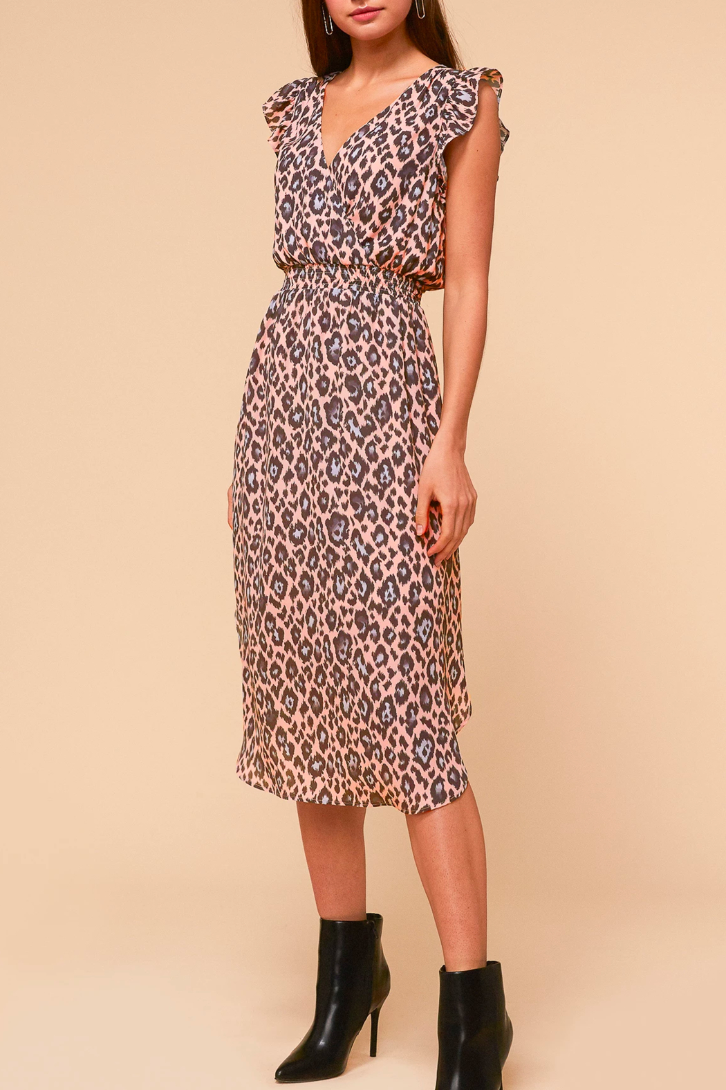Adelyn Rae Camille Animal-Print Dress - Side Cropped Image