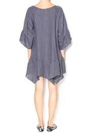 Camille Charcoal Linen Tunic Dress - Side cropped