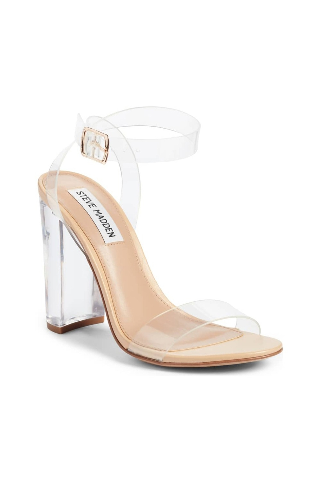 Steve Madden Camille Clear Sandal - Front Cropped Image