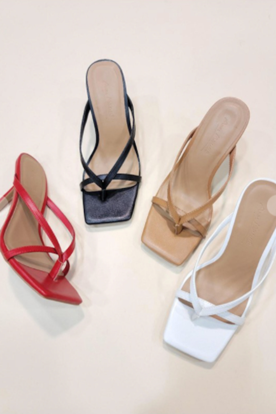 Let's See Style Camille Heeled Slide - Front Full Image