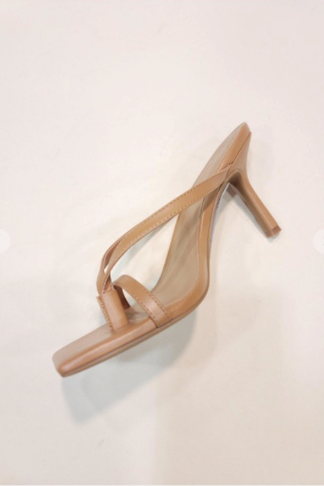 Let's See Style Camille Heeled Slide - Front Cropped Image