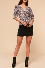 Adelyn Rae Camille Wrap Front Blouse - Front full body