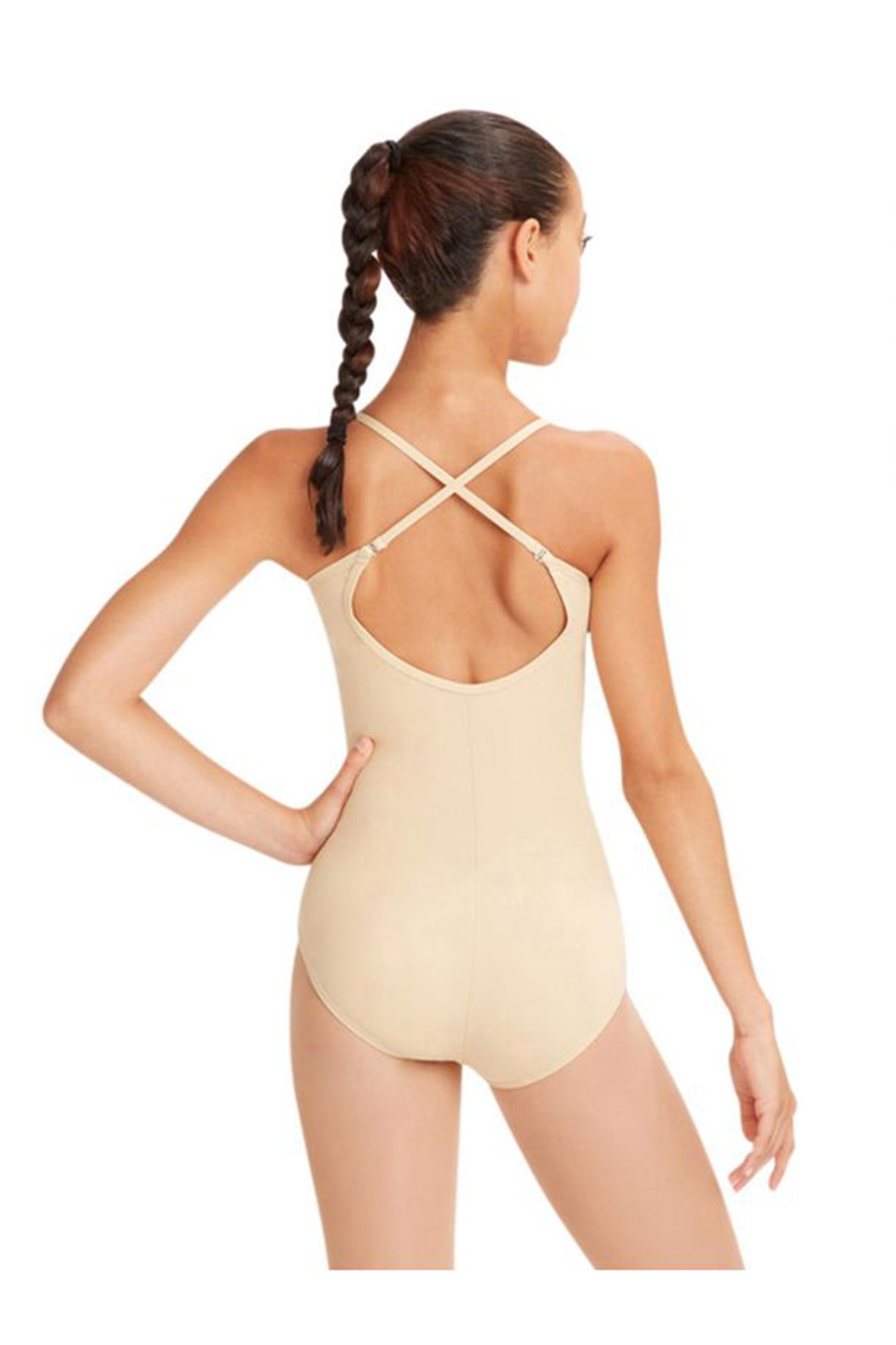 Capezio Camisole Leotard With Adjustable Straps - Front Full Image