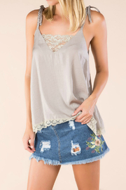 POL Camisole with front lace panel - Product Mini Image