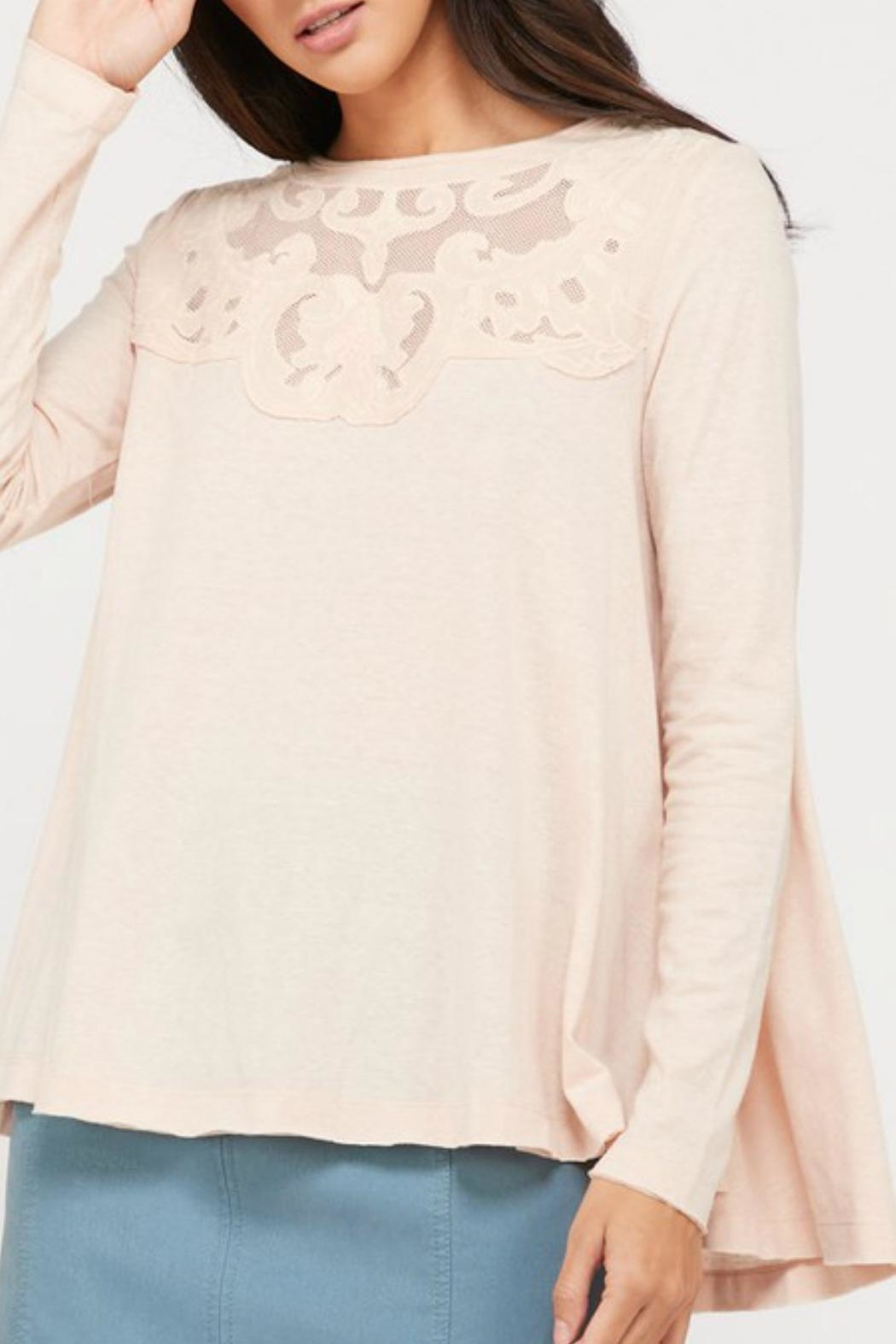 Wishlist Cammie Crochet Top - Front Full Image