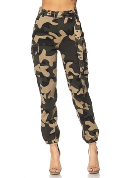 hot and delicious Camo Army Joggers - Product List Image
