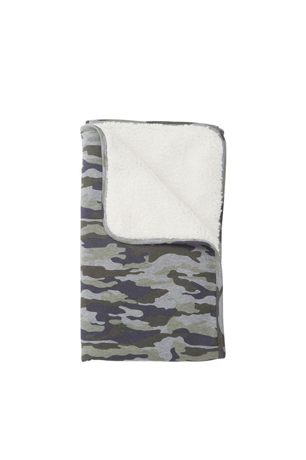 Mud Pie Camo Baby Blanket - Front Cropped Image