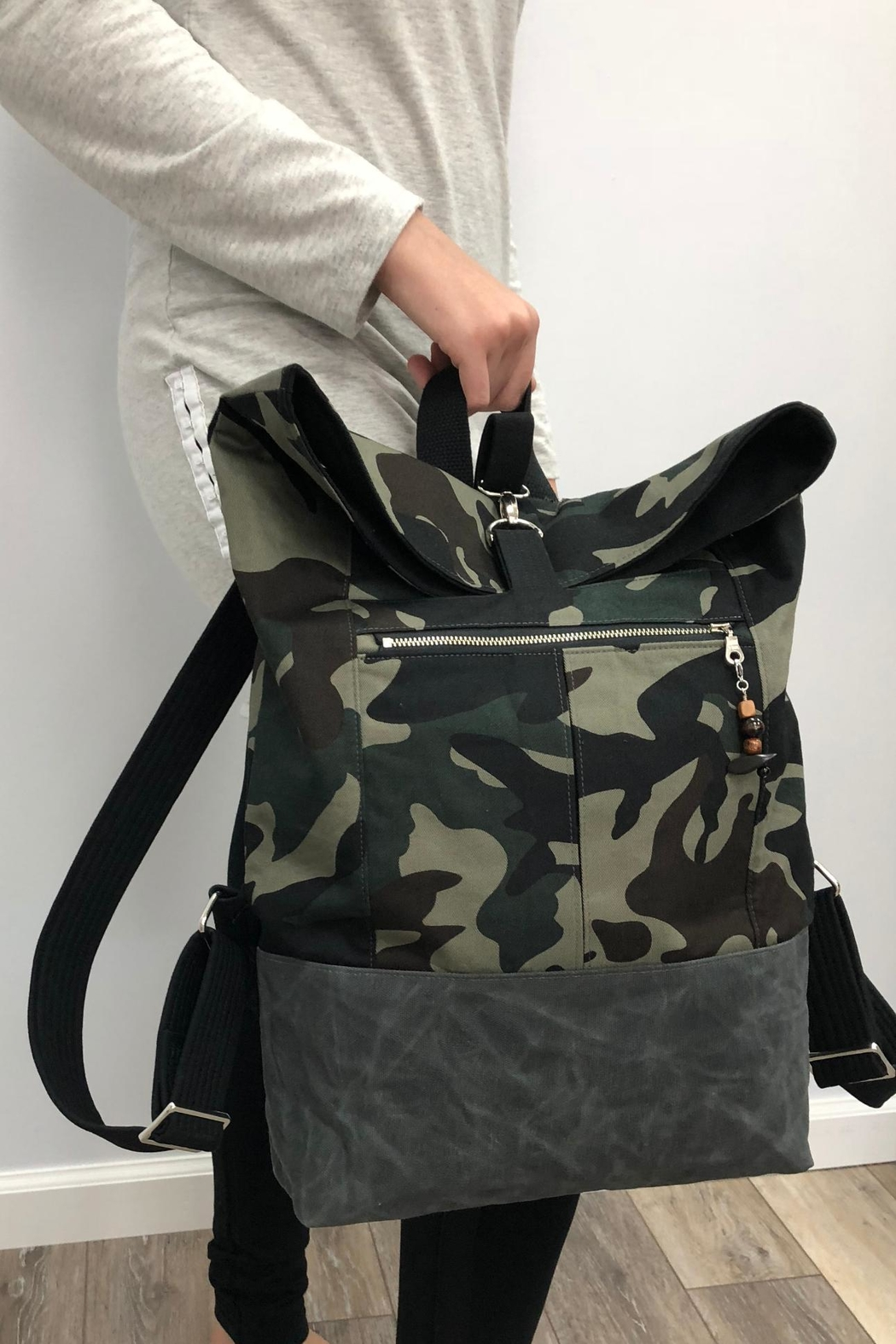 The Lovet Shop Camo Backpack - Main Image