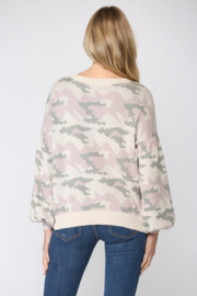 Fate Camo Balloon Sleeve Sweater - Side cropped