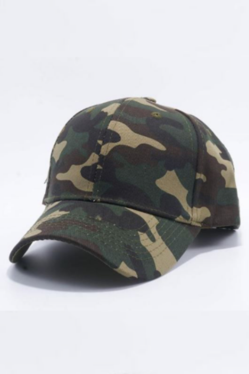 Fashionistar Camo Baseball Hat - Front Cropped Image