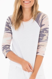 z supply Camo Baseball Tee - Front cropped
