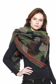 Trendy Wholesale Camo Blanket Scarf - Front cropped