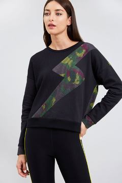 Zara Terez Camo Bolt Sweatshirt - Product List Image