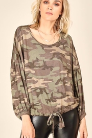 Vintage Havana Camo Bubble Sleeve Top - Product Mini Image