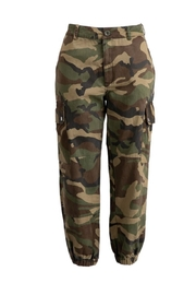 Polly & Esther Camo Cargo Pants - Product Mini Image
