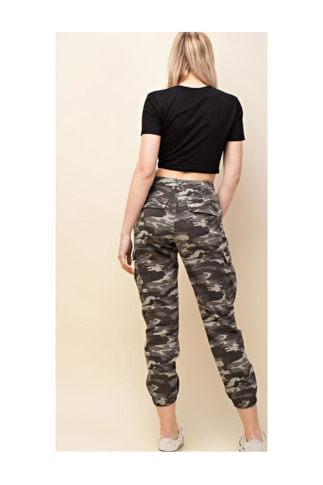 Polly & Esther Camo Cargo Pants - Front Full Image