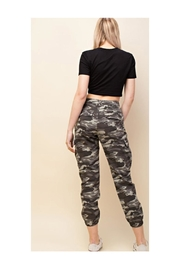Polly & Esther Camo Cargo Pants - Front full body