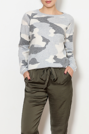 Brodie Camo Cashmere Sweater - Product Mini Image