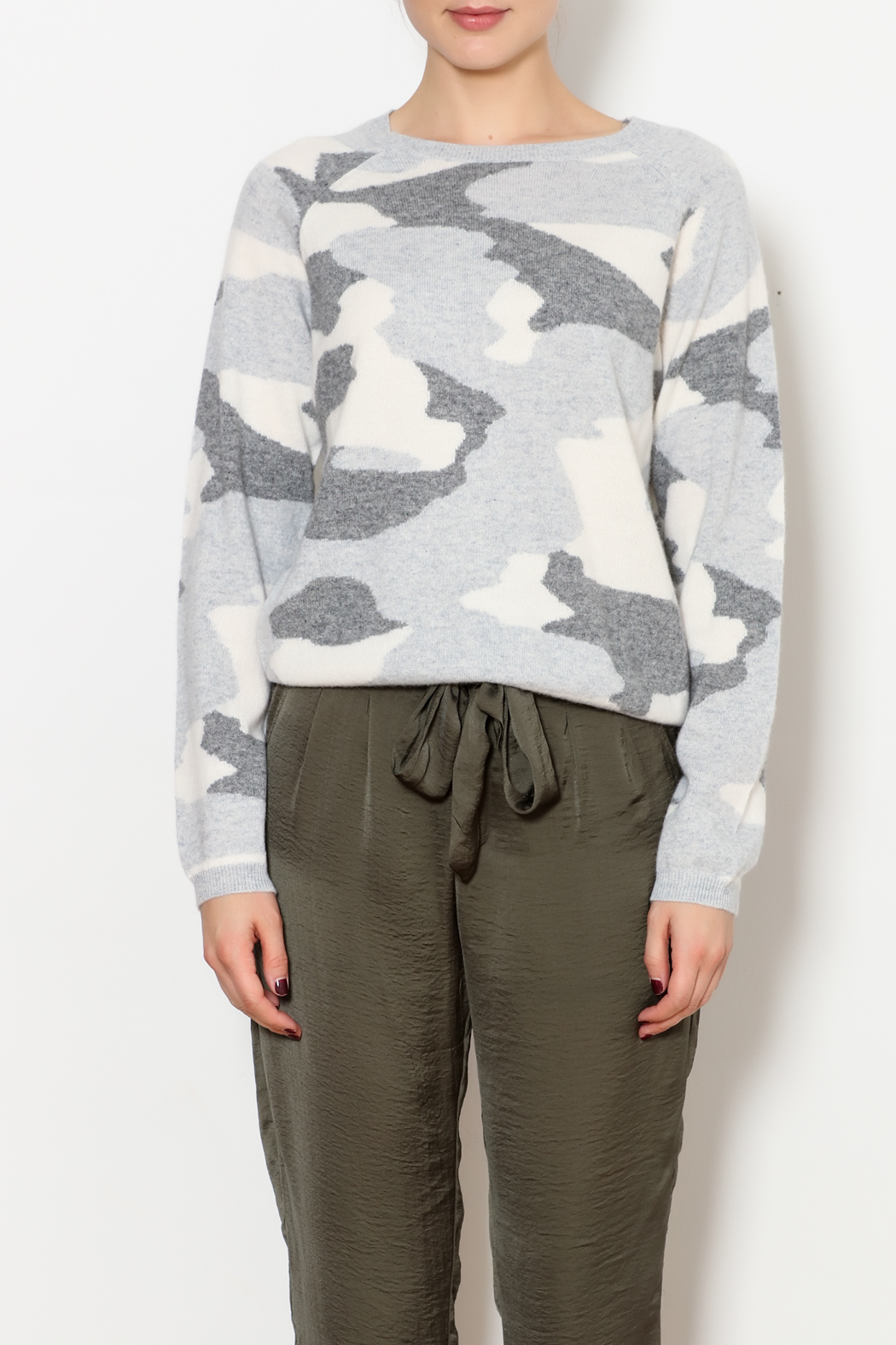 1c0414b0029 Brodie Camo Cashmere Sweater from North Shore by J. Mode — Shoptiques