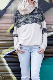 My Story Camo Color-Block Top - Product Mini Image